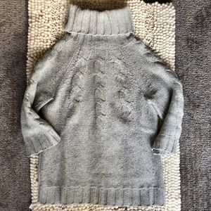 Gray 3/4 sleeve turtleneck sweater from GAP